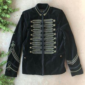 Blank NYC Black Gold Velvet Band Coat Jacket